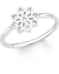 S.oliver Ring So Pure Blume Blüte 925 Sterling Silber rhodiniert - Mettallic