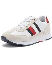 Corporate Leather Flag Runner Low top Trainers White