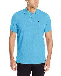 U.S. POLO ASSN. - Twisted-yarn Polo Shirt - Lyst