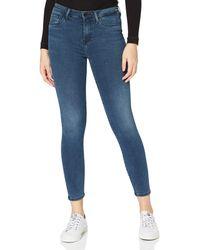 Tommy Hilfiger Mujer Th Soft Como Skinny Rw K Pantalones - Azul