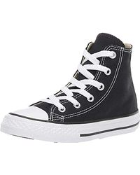 Converse Youths Chuck Taylor All Star Hi Zapatillas de tela, Unisex - Infantil - Negro