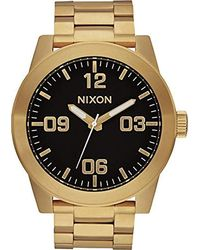 Nixon Analog Quarz Uhr mit Edelstahl Armband A346-510-00 - Mettallic