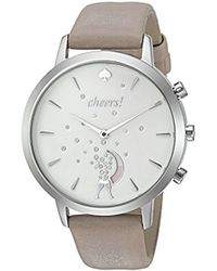Kate Spade - Leather Strap Cheers Metro Grand Hybrid Smart Watch - Lyst