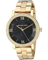 Michael Kors - Norie Quartz Watch With Stainless Steel Strap, Gold, 18 (model: Mk4404) - Lyst