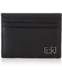 Calvin Klein Ck Cast Pebble Cardholder - Noir