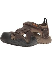Crocs™ Swiftwater Leather Fisherman Sandal - Multicolor