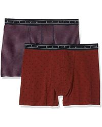 cd446b60aaabbc Classic Boxer Shorts In Multicolour All-over Print (pack Of 2) - Red