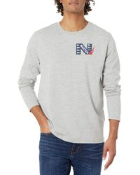Nautica - Long Sleeve Sailing Graphic T-Shirt - Lyst