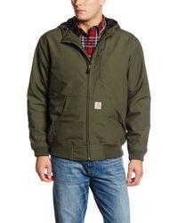 Carhartt Big & Tall Quick Duck Jefferson Active Jacket,olive,x-large Tall - Green