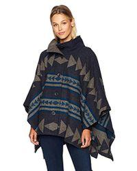 Pendleton - Chaparral Wool Jacquard Cape, Thunder Quarrel Jacquard, One Size - Lyst