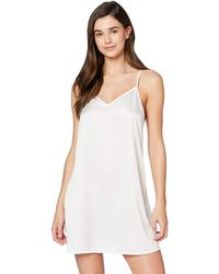 Iris & Lilly Nightie In Satin With Relaxed - White