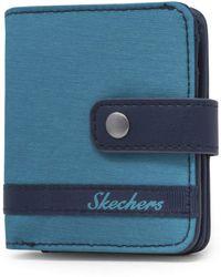 Skechers Rfid Blocking Mini Bifold Travel Accessory-bi-fold Wallet - Blue