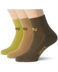Levi's Mid Cut Batwing Logo Socks Calzini - Verde