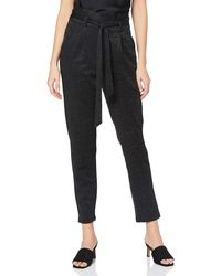 Vero Moda VMEVA HR Paperbag Glitter Pant GA Color Pantaloni - Nero