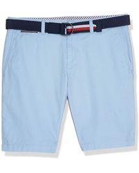 Tommy Hilfiger Brooklyn Short Light Twill Belt Pantaloncini - Blu