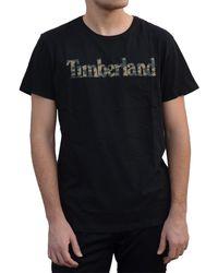 Timberland Camo Tree T-Shirt Uomo Nera A1N4AI20 Nero XL