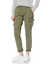 Superdry Girlfriend Cargo Pant Pantalones - Verde