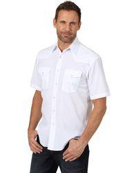 Wrangler Sport Western Basic Two Pocket Short Sleeve Snap Shirt Hemd - Weiß