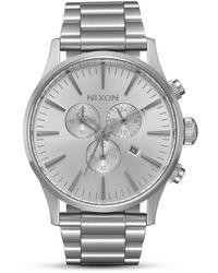 Nixon Armbanduhr Sentry Chrono All Silver - Mettallic