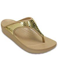 Crocs™ Sloane Embellished Zehentrenner - Mettallic