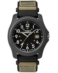 Timex Armbanduhr Expedition -Armbanduhr XL Analog Nylon T425714E - Grün