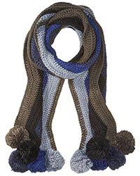 BCBGMAXAZRIA - Crochet Stripe Pom Muffler - Lyst