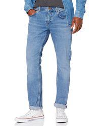 Tommy Hilfiger Straight Denton STR Eagle Blue Jean Droit, Bleu (Denim AA)