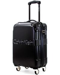 Calvin Klein Ck Delancey Hard Shell Trolley With Tsa Lock - Black
