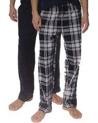 Nautica Sueded Fleece Pajama Pants 2 Pack - Bleu