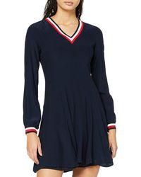 Tommy Hilfiger Josie Dress LS Vestido - Azul