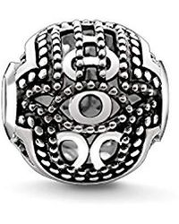 Thomas Sabo - Unisex Bead Hand Of Fatima 925 Sterling Silver, Blackened K0219-637-12 - Lyst