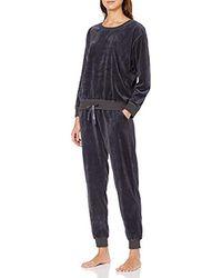 Triumph Sets PK Velour Conjuntos de Pijama para Mujer - Gris