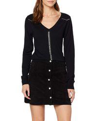 Guess Ls V-Neck Viviana Sweater Pull - Noir