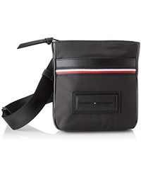 Tommy Hilfiger Modern Nylon Mini Crossover, Sacs portés épaule homme, Noir (Black)