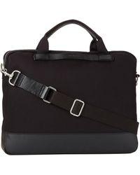Ben Sherman Twill Flight Bag - Black