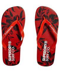 Superdry Super Sleek AOP Flip Flop - Rouge