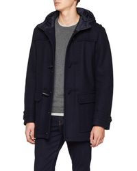 Tommy Hilfiger Wool Jersey Duffle Coat - Blue