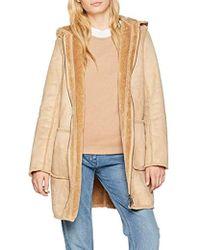 retro Farben und auffällig ziemlich billig Damen Mantel - Natur