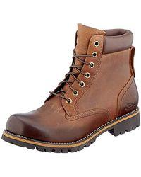 Timberland Rugged 6 inch Plain Toe Waterproof - Marrone