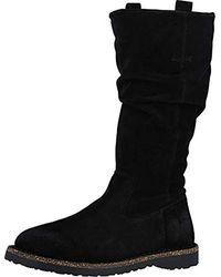 Birkenstock Luton High Boot Black Suede Size 39 M Eu