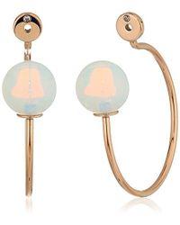 Fossil - Beaded Hoop Earrings - Lyst