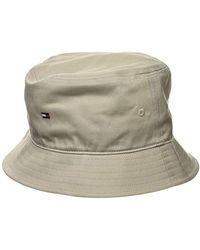 Tommy Hilfiger Flag Bucket Hat Gorro Estilo Aviador para Hombre - Neutro