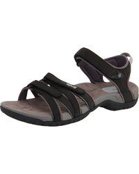 Teva Tirra Leather Sports And Outdoor Lifestyle Sandal - Black