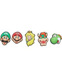 Crocs™ Jibbitz Shoe Charm 5-Pack | Personalize with Jibbitz for Super Mario One-Size - Amarillo