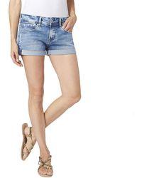 Pepe Jeans Siouxie Pantaloncini di Jeans - Blu