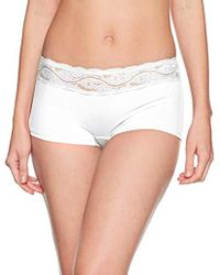 Triumph Lovely Micro Short Culotte para Mujer - Blanco