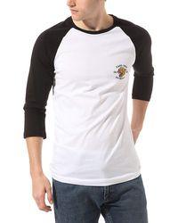 Vans - Mn Growler Raglan T-Shirt Bianca da Uomo VN0A49QGYB2 - Lyst