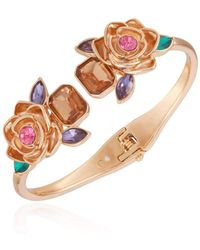 Guess Hinged Floral Cuff - Metallic