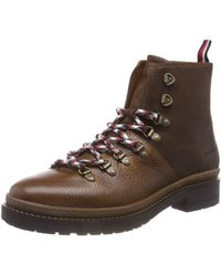 Tommy Hilfiger Herren Elevated Outdoor Hiking Combat Boots - Braun