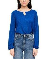 S.oliver Glitzershirt mit Stabperle royal blue 36 - Blau